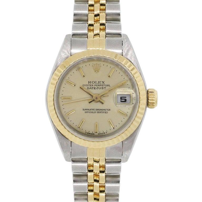 Rolex 69173 Datejust Two Tone Wrist Watch