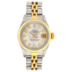 Rolex 69173 Two-Tone Mother of Pearl Diamond Dial Ladies Watch