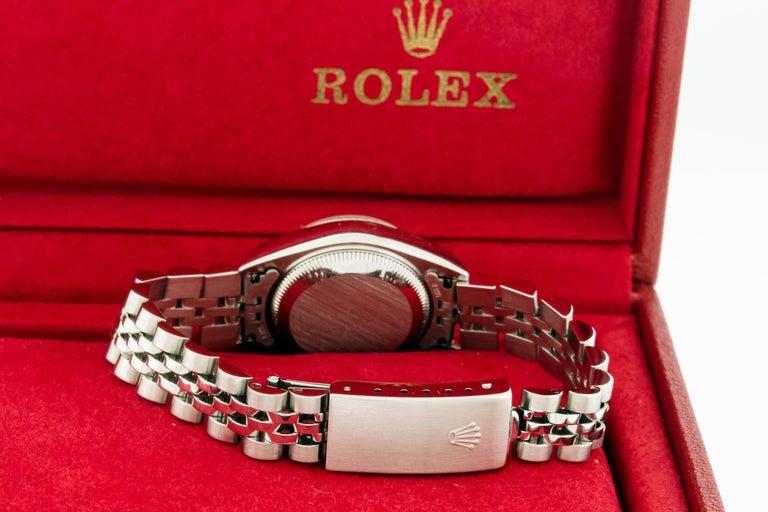 Rolex 79174 Datejust Steel Blue Vignette Diamond Box, Paper, Booklets For Sale 6