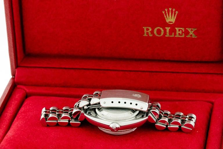 Rolex 79174 Datejust Steel Blue Vignette Diamond Box, Paper, Booklets For Sale 8
