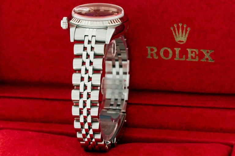 Women's Rolex 79174 Datejust Steel Blue Vignette Diamond Box, Paper, Booklets For Sale