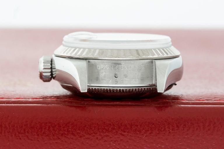 Rolex 79174 Datejust Steel Blue Vignette Diamond Box, Paper, Booklets For Sale 4