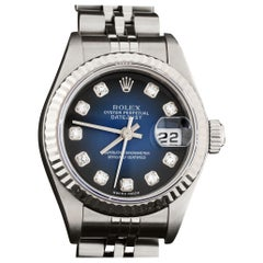 Rolex 79174 Datejust Steel Blue Vignette Diamond Box, Paper, Booklets