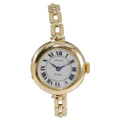 Rolex 9 Ct Yellow Gold Ladies Early Wristwatch from 1915