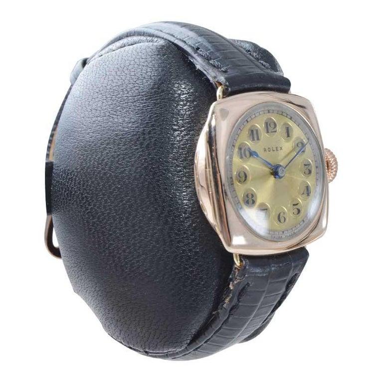 Women's Rolex 9 Carat Gold Ladies Wristwatch circa 1915 with Original Unrestored Dial For Sale