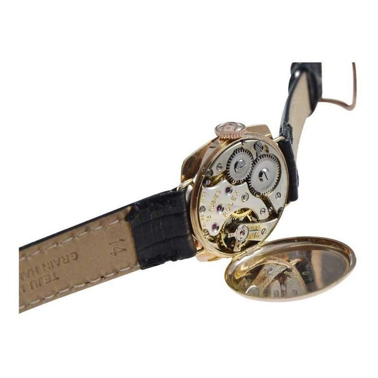Rolex 9 Carat Gold Ladies Wristwatch circa 1915 with Original Unrestored Dial For Sale 4