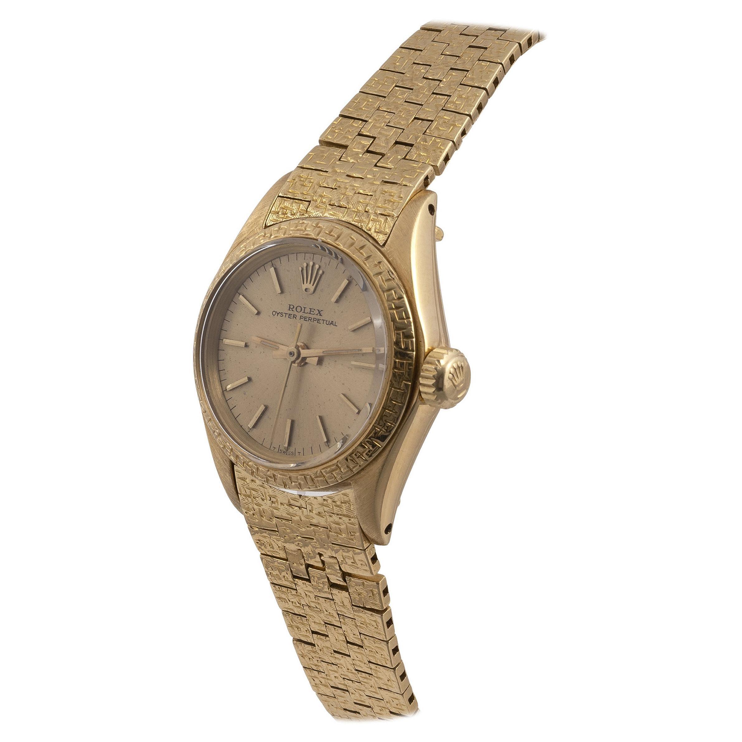 Rolex A Lady's 18ct Gold Automatic Wristwatch