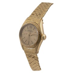 Rolex A Lady's 18ct Gold Automatic Wristwatch