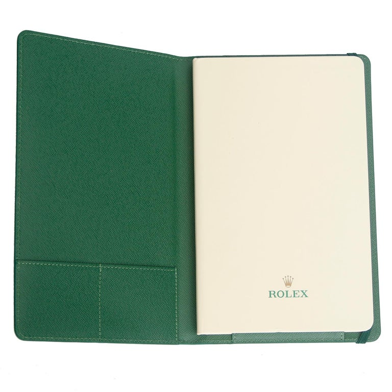 Rolex Agenda with Green Leather Cover In Excellent Condition For Sale In Dallas, TX