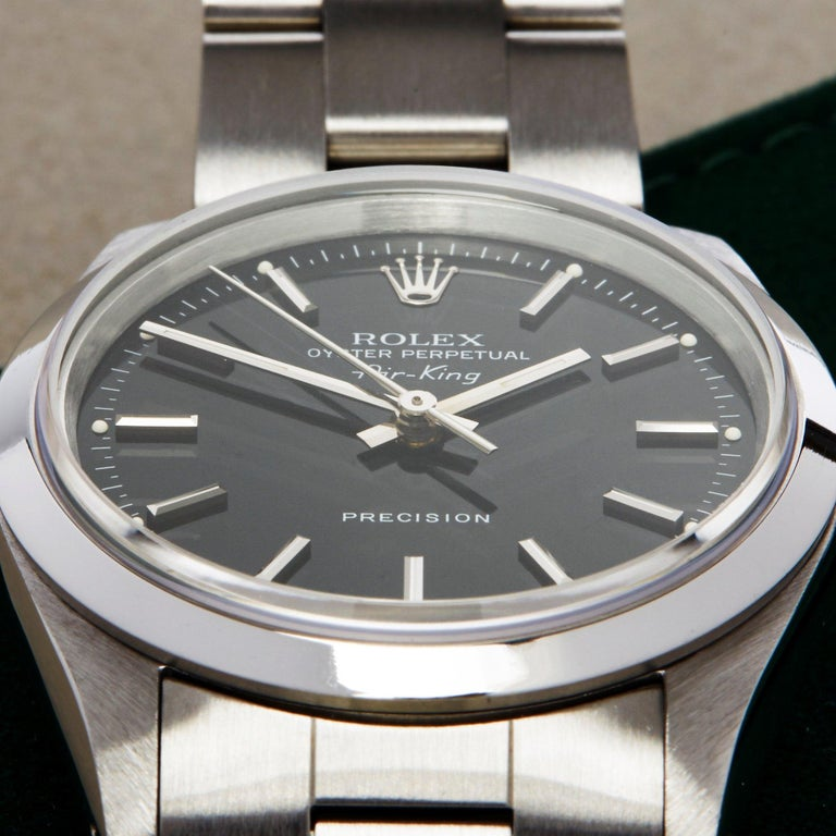 Rolex Air-King 0 14000 Men's Stainless Steel Watch In Excellent Condition For Sale In Bishops Stortford, Hertfordshire