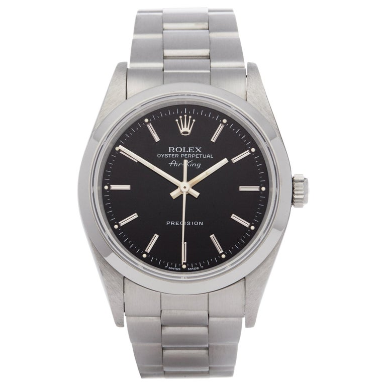 Rolex Air-King 0 14000 Men's Stainless Steel Watch For Sale