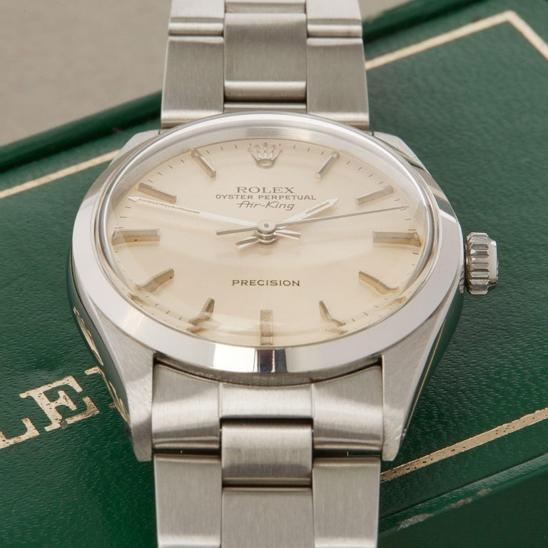 Rolex Air-King 0 5500 Men's Stainless Steel Watch For Sale 7