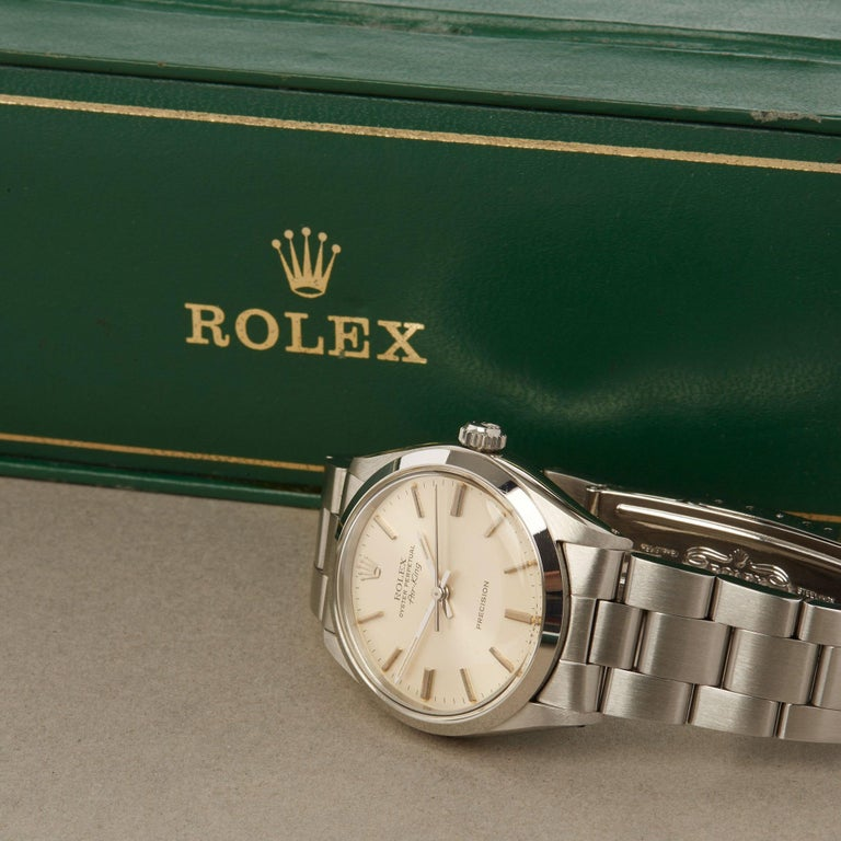 Rolex Air-King 0 5500 Men's Stainless Steel Watch For Sale 8