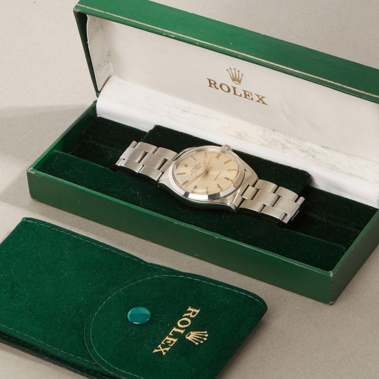 Rolex Air-King 0 5500 Men's Stainless Steel Watch For Sale 9