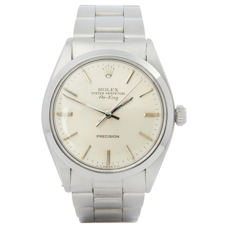Rolex Air-King 0 5500 Men's Stainless Steel Watch For Sale
