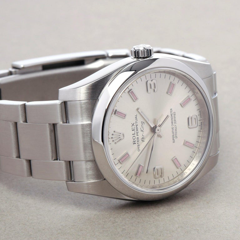 Rolex Air-King 114200 Unisex Stainless Steel Watch For Sale 2