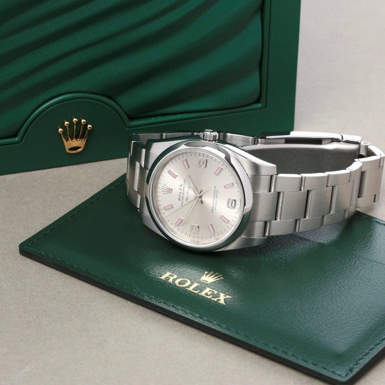 Rolex Air-King 114200 Unisex Stainless Steel Watch For Sale 5