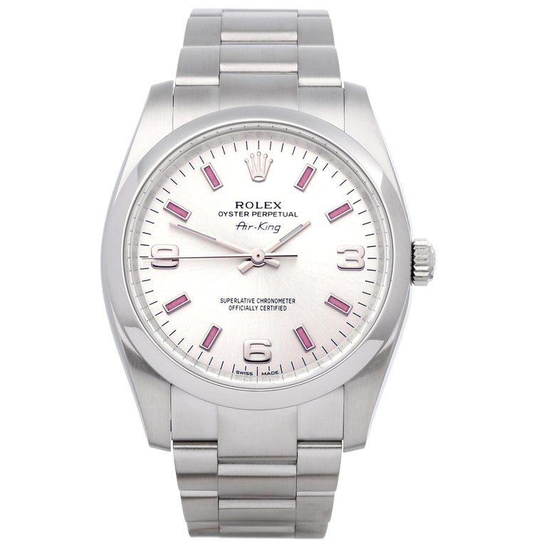 Rolex Air-King 114200 Unisex Stainless Steel Watch For Sale