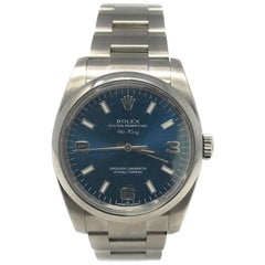 Rolex Air-King 114200 With Stainless-Steel Bezel & Blue Dial