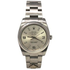 Rolex Air-King 114200 With Stainless-Steel Bezel & Silver Dial