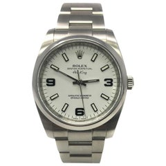 Rolex Air-King 114200 With Stainless-Steel Bezel & White Dial