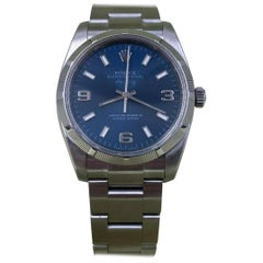 Rolex Air King 114210 Blue Dial Stainless Steel Box Papers, 2007