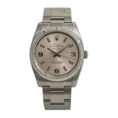Rolex Air-King 114210, Silver Dial, Certified and Warranty