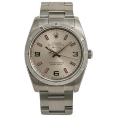 Rolex Air-King 114210 Unisex Automatic Watch Silver Dial Stainless Steel