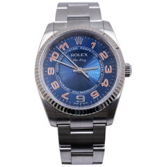 Rolex Air King 114234 Blue Concentric Dial Stainless Steel Box Papers