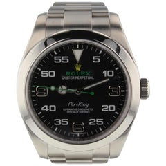 Rolex Air-King 116900, Black Dial, Certified and Warranty