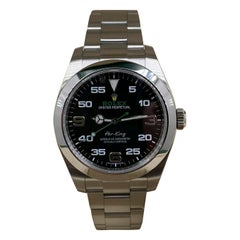 Rolex Air King 116900 Black Dial Stainless Steel Box Papers 2018