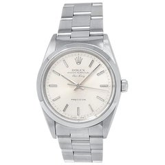 Rolex Air-King 14000, Silver Dial, Certified and Warranty