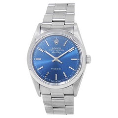 Rolex Air-King 14000, Blue Dial, Certified and Warranty