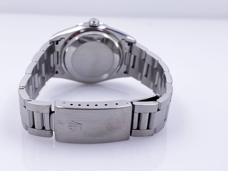Rolex Air King 14000 Blue Dial Stainless Steel Box Papers For Sale 3