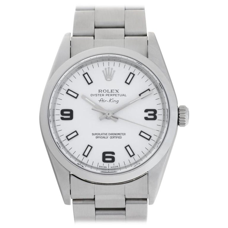 Rolex Air King 14000 Stainless Steel Auto Watch For Sale