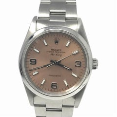 Rolex Air-King 14000 With 7.7 in. Band & Pink Dial