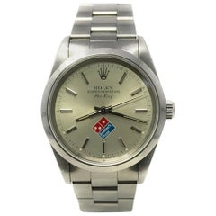 Rolex Air-King 14000 With 7.7 in. Band & Silver Dial
