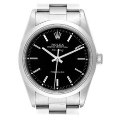 Rolex Air King 34 Black Dial Automatic Steel Men's Watch 14000