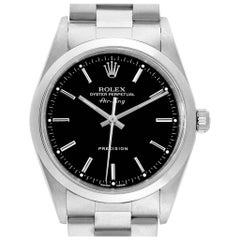Rolex Air King 34 Black Dial Domed Bezel Men's Watch 14000