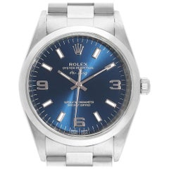Rolex Air King 34 Blue Dial Domed Bezel Unisex Watch 114200