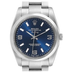 Rolex Air King 34 Blue Dial Smooth Bezel Unisex Watch 114200