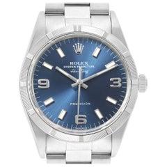 Rolex Air King 34 Blue Dial Steel Men's Watch 14010