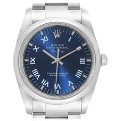 Rolex Air King 34 Blue Roman Dial Automatic Steel Men's Watch 114200