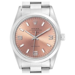 Rolex Air King 34 Salmon Dial Oyster Bracelet Steel Unisex Watch 14000