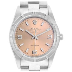 Rolex Air King 34 Salmon Dial Steel Men's Watch 14010