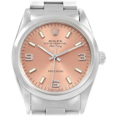 Rolex Air King Salmon Dial Steel Unisex Watch 14000
