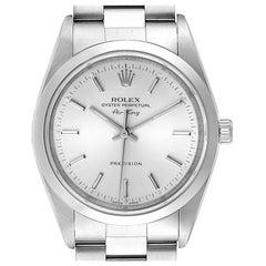 Rolex Air King Silver Dial Smooth Bezel Steel Men's Watch 14000