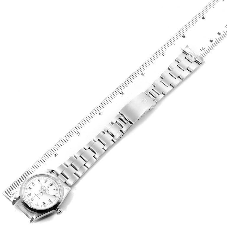 Rolex Air King White Dial Domed Bezel Men's Watch 14000 Box For Sale 7