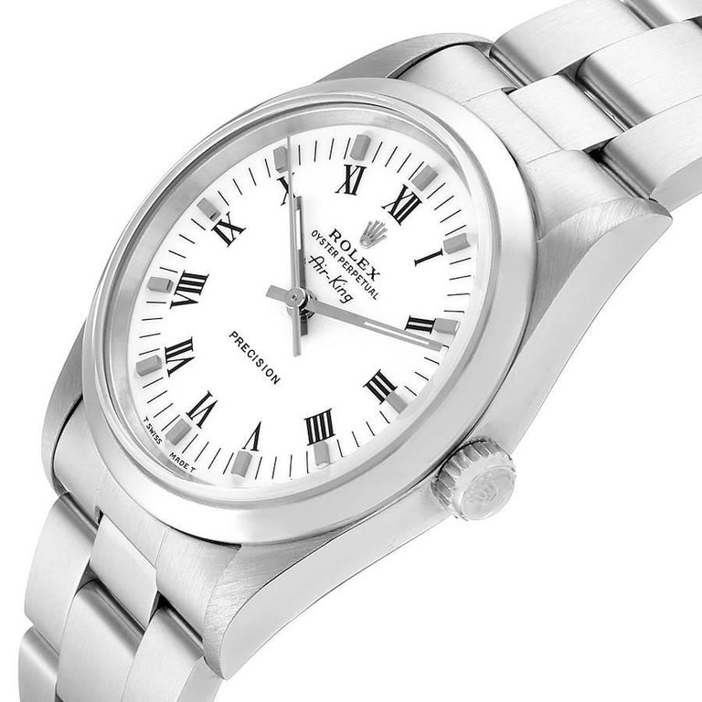 Rolex Air King White Dial Domed Bezel Men's Watch 14000 Box For Sale 2