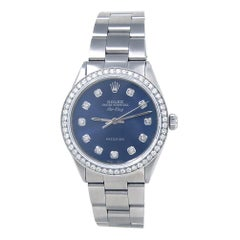 Rolex Air-King 5500, Blue Dial, Certified and Warranty